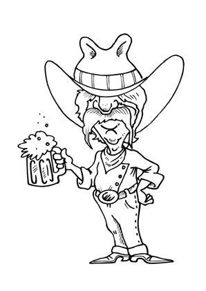 ausmalbilder cowboy mit bier zum kostenlosen ausdrucken und ausmalen. ausmalbilder |