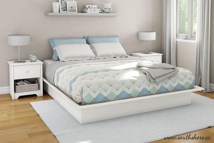 South Shore Newbury Platform Bed & Reviews | Wayfair