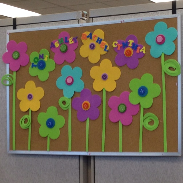 Staff bulletin board, Spring