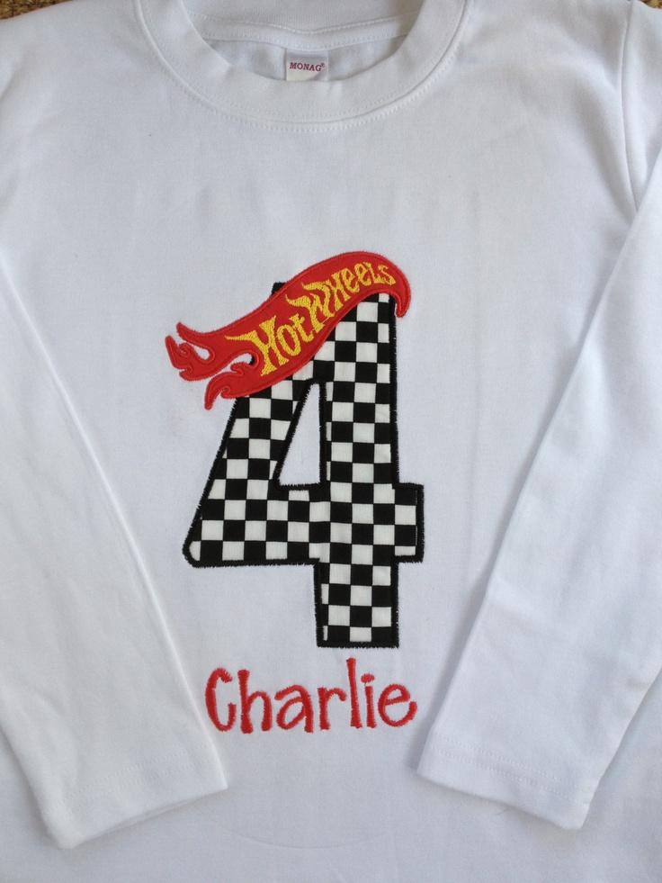 Hot Wheels Birthday Shirt. $23.00, via Etsy.