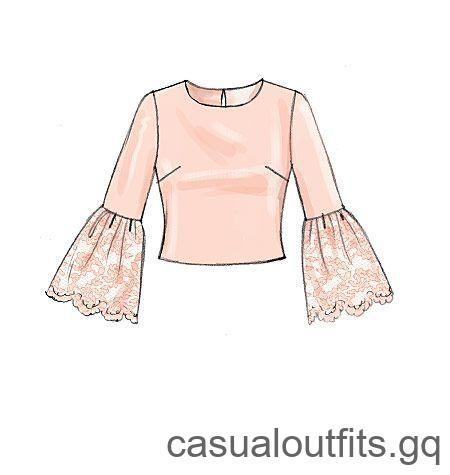 Het patroon met nieuwe tops van McCall kan glamoureus of basic worden, uw oproep. M7285