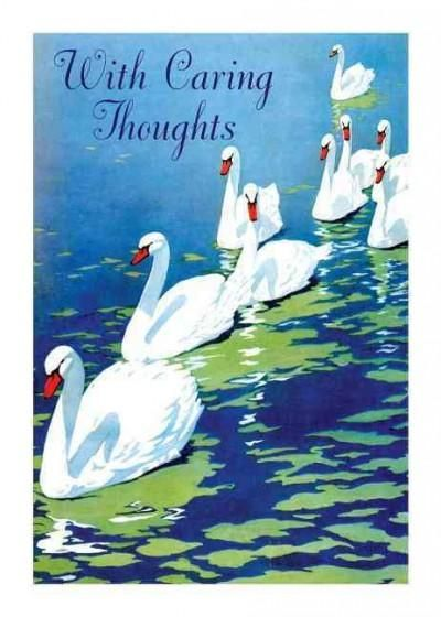 Swans Sympathy Greeting Cards