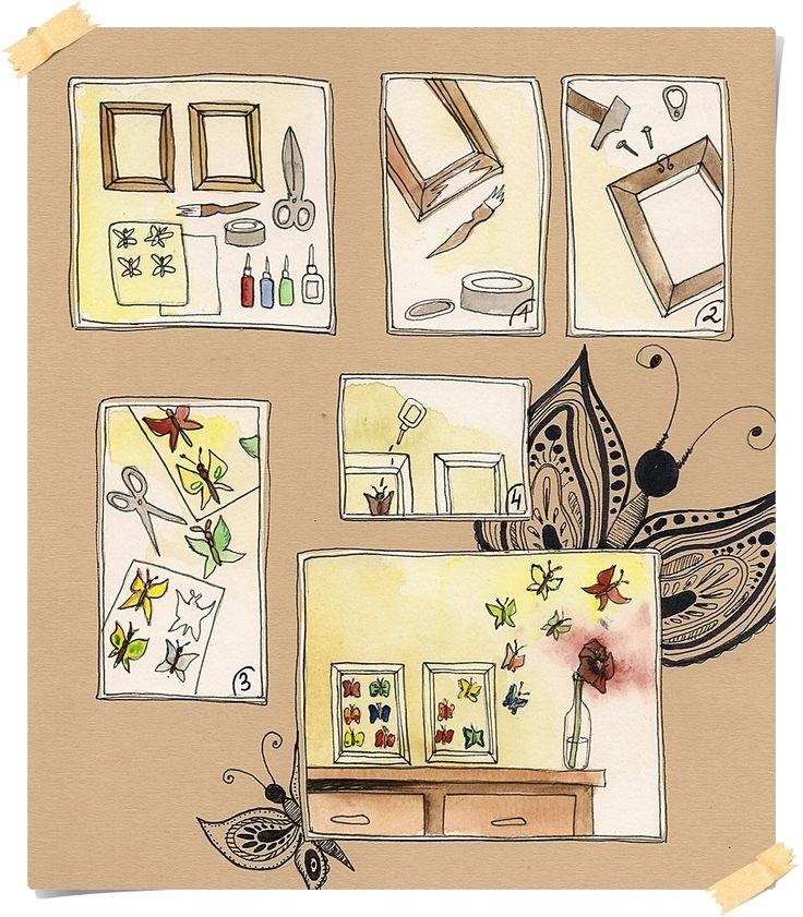 walltatoo butterfly diy be creativ pinterest wandtatoo schmetterlinge und gelassenheit. Black Bedroom Furniture Sets. Home Design Ideas