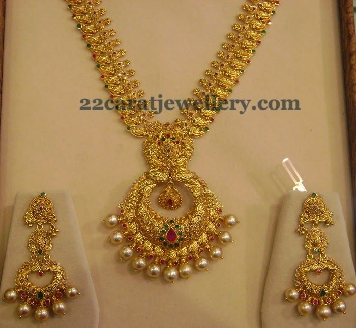 Mango Necklace with Chandbali Locket