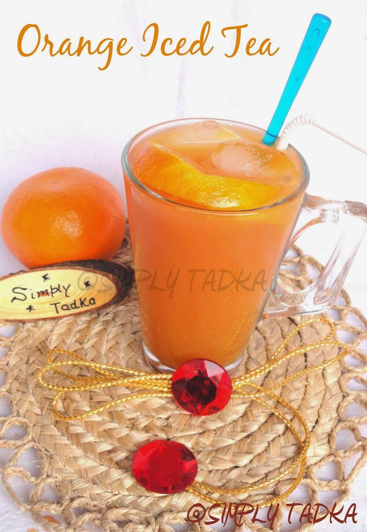Orange Iced Tea ~ Simply TADKA