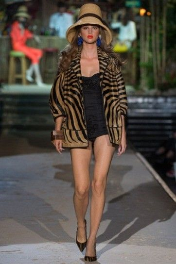 Giacca animalier striata Dsquared2 Primavera-Estate 2014