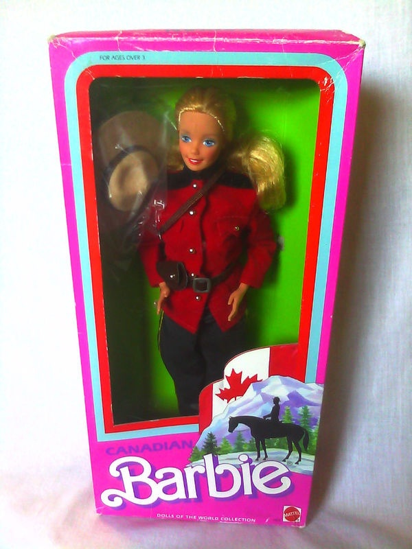 Found on eBay, Barbie as RCMP officer!