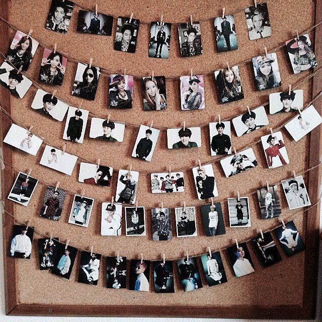 Clothes pin photos . Kpop photocards