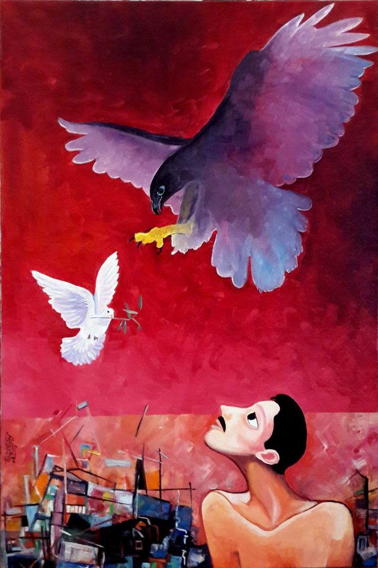 "$2,750 Saatchi Art Artist Mukarram Sousli; Painting, ""Syria Today"" #art"