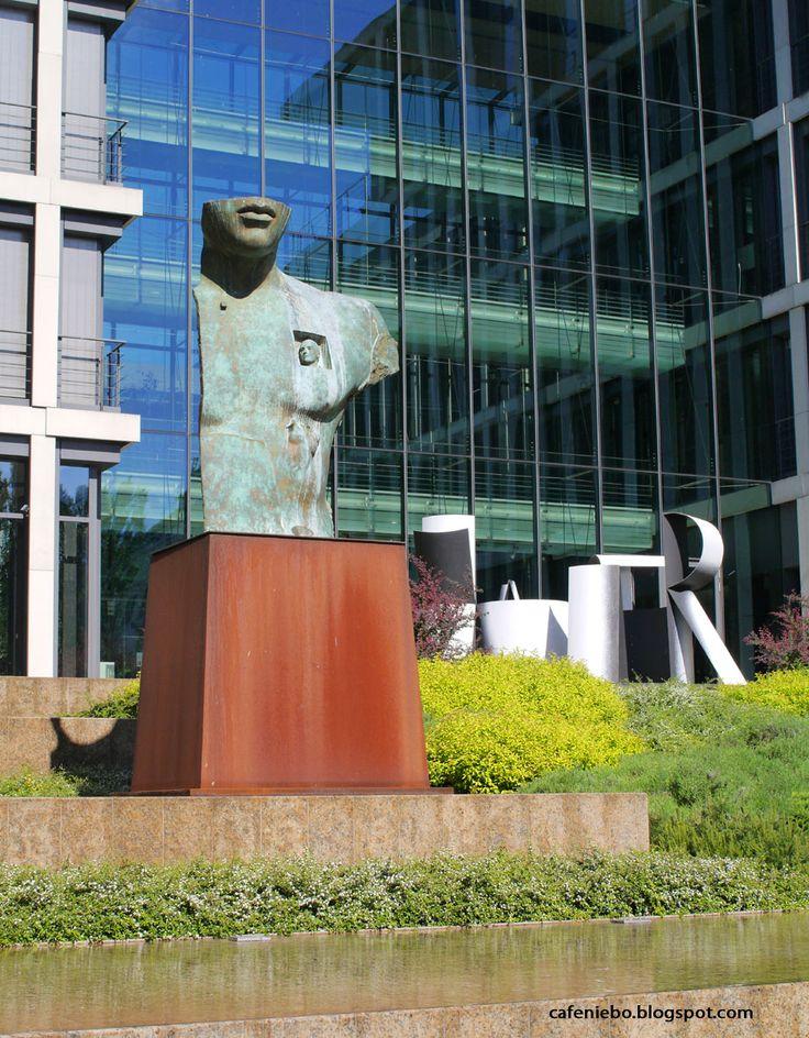 a sculpture of Igor Mitoraj, Warsaw