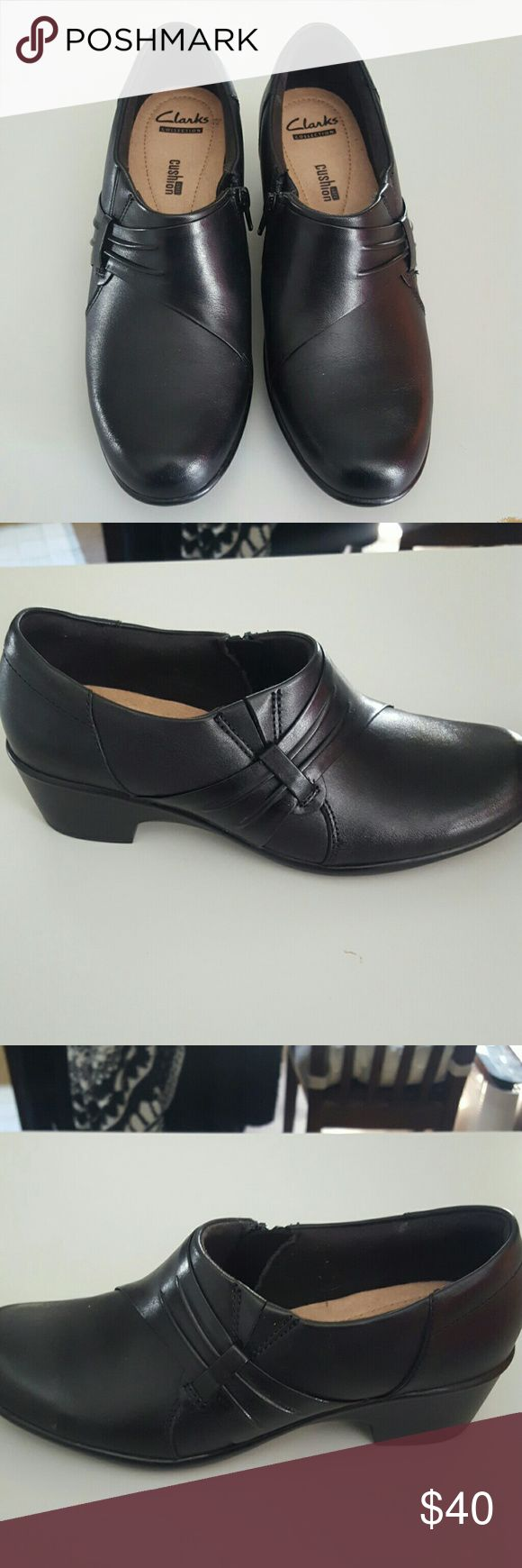 Clark's shoes Worn only once, very cute and comfortable clarks Clarks Shoes