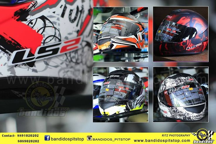 Safety On Bike...................... Huge Collection of Helmets.................. www.bandidospitstop.com