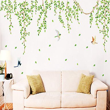 Wall Stickers Wall Decals, Style Green Leaves PVC Wall Stickers – CAD $ 23.62