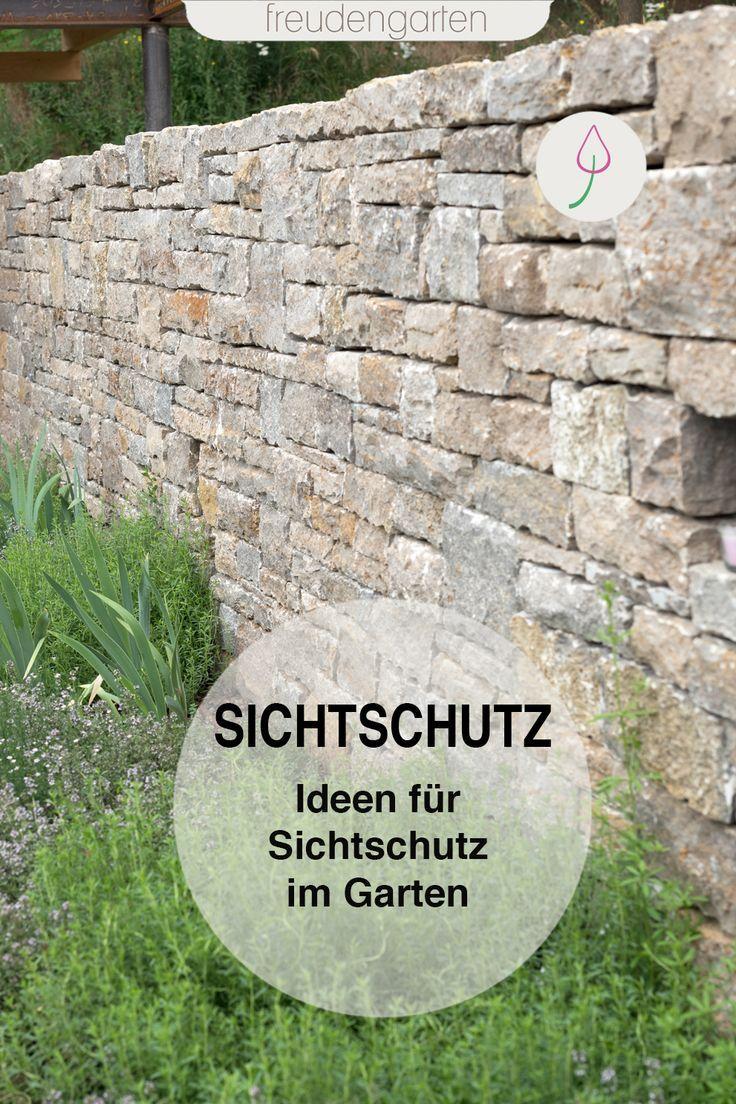 Sichtschutz Im Garten Ideen Zu Materialien Und Pflanzen Sichtschutz Garten Sichtschutzwand Garten Und Garten Gestalten
