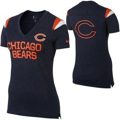 Chicago Bears Ladies Nike V-Neck Tee