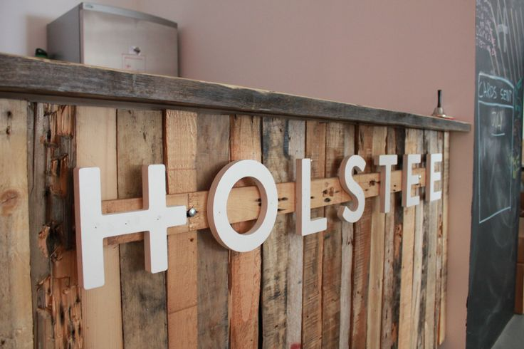Reclaimed wood bar built from scraps from our tables and for Reclaimed wood dc