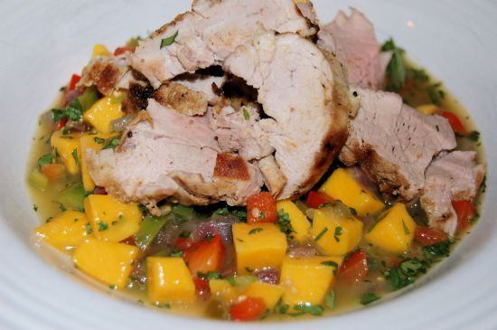 Pork Tenderloin with Mango-Chili Sauce | Healthy Recipes | Pinterest