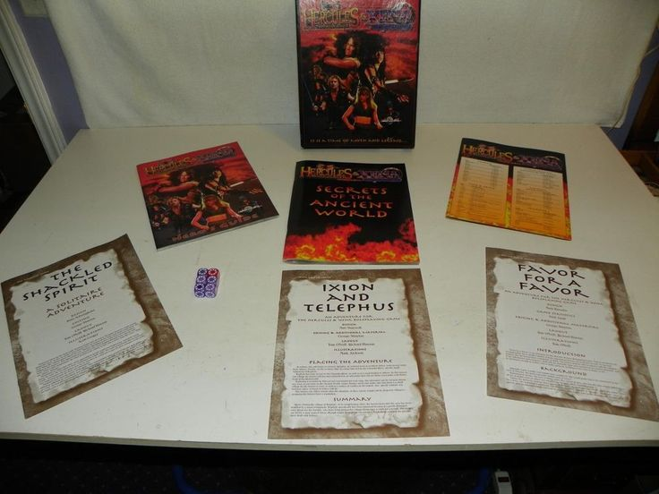 COMPLETE 1998 XENA + HERCULES ROLE PLAYING GAME SET-WARRIOR PRINCESS ROLEPLAYING #WESTENDGAMES36000