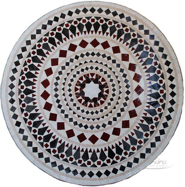 Mesa árabe de mosaico elaborada  artesanalmente.