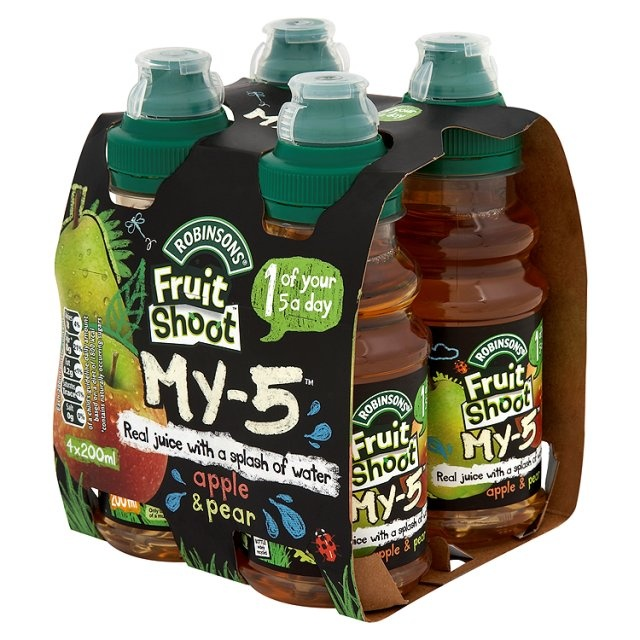 Ocado: Robinsons Fruit Shoot My 5 Apple & Pear (Product Information)