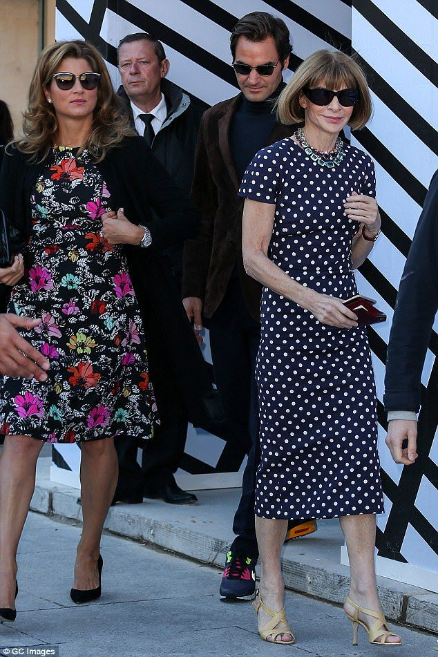 Mirka Federer has struck up a friendship with Vogue editor Anna Wintour after rubbing shoulders in the Royal Box at Wimbledon