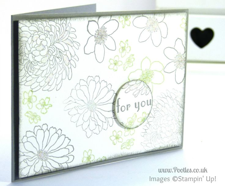 Stampin' Up! UK Demonstrator Pootles - Glitter and Sparkle with Forever Florals