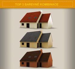 Slaďte si barvu vaší střechy s barvou fasády