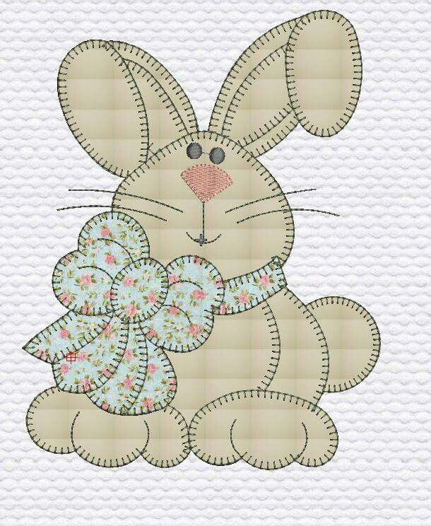 bunny applique ~ cute!                                                                                                                                                                                 More