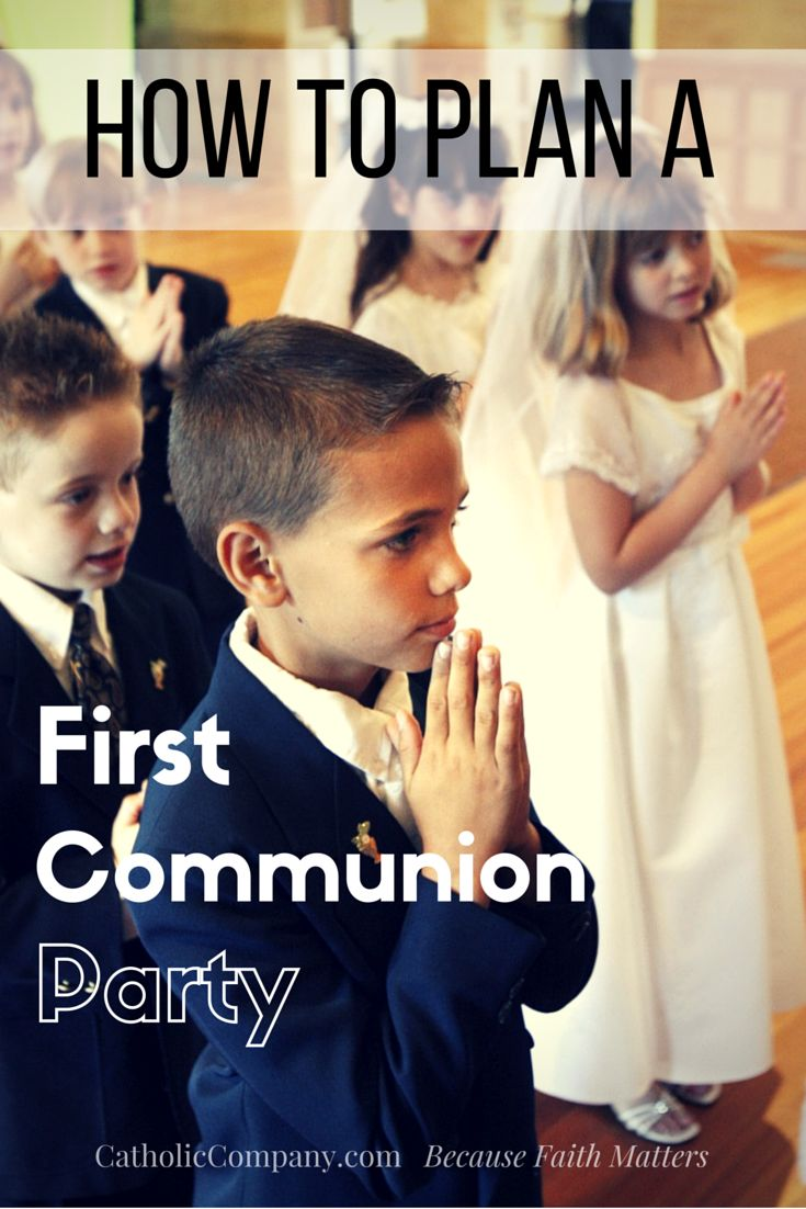 Helpful Tips for Planning Your Child's First Communion Party