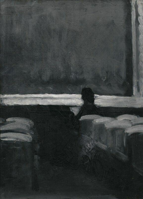 Une silhouette solitaire dans un Théâtre 1902/4