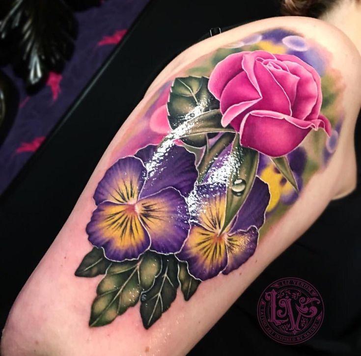 Vintage Venom Tattoo Thoughts: 25+ Beautiful Pansy Tattoo Ideas On Pinterest