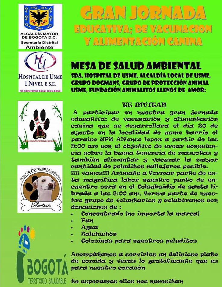 Jornada de educación animal 30 agosto 2015 #Usme #animal #tenenciaresponsable