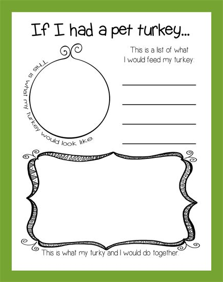 If I Had A Pet Turkey... | Thanksgiving Activity & Bulletin Board Idea for preschool, kindergarten, and elementary grades.