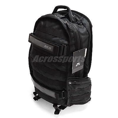 Nike SB RPM Water-Resistant Black Grey Mens Backpack Bag Bp BA5130-005