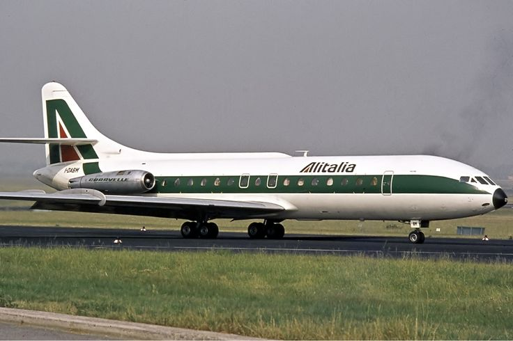 Alitalia Sud Aviation Caravelle Airplanes From The Past