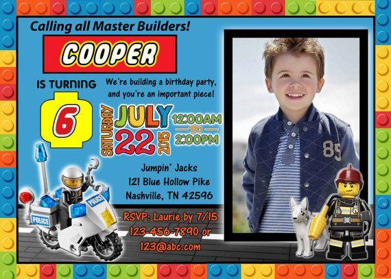Lego Digital Birthday Invitation