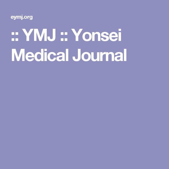 :: YMJ :: Yonsei Medical Journal