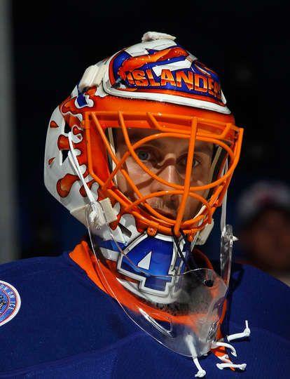 Jaroslav Halak #41 of the New York Islanders (24 Sept 2014)