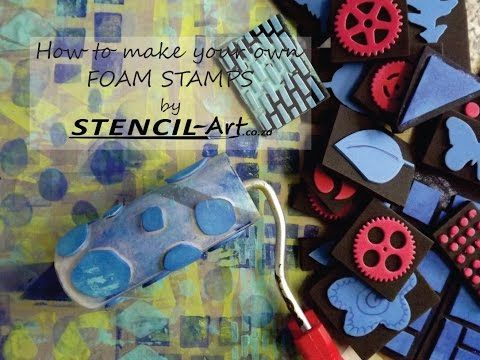 GOOD ONE - TP rolls & acetate slip on little roller to make rolling stamps - cewell - How to make your own foam stamps. - YouTube