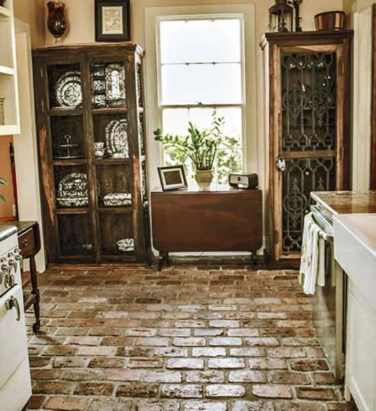 To achieve the look of vintage New Orleans brick, this couple collected bricks from neighbors and Craigslist—and even found some under their garden beds—and laid them all by hand.