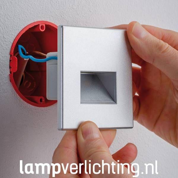 Inbouwspots vierkant 230V voor inbouwdoos - Set #inbouwspots #wandinbouwspot #ledverlichting #wandspot
