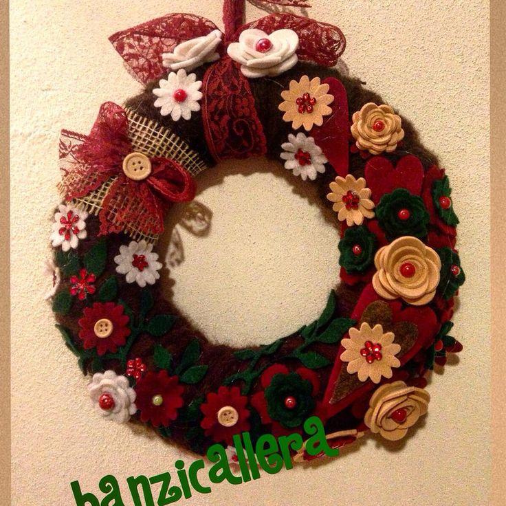 Ghirlanda natalizia fiori, by Banzicallera, 28,00 € su misshobby.com