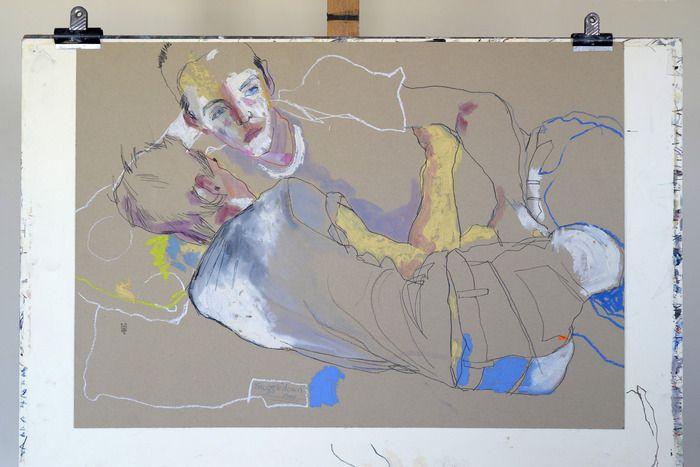 Original Drawing – Two boys