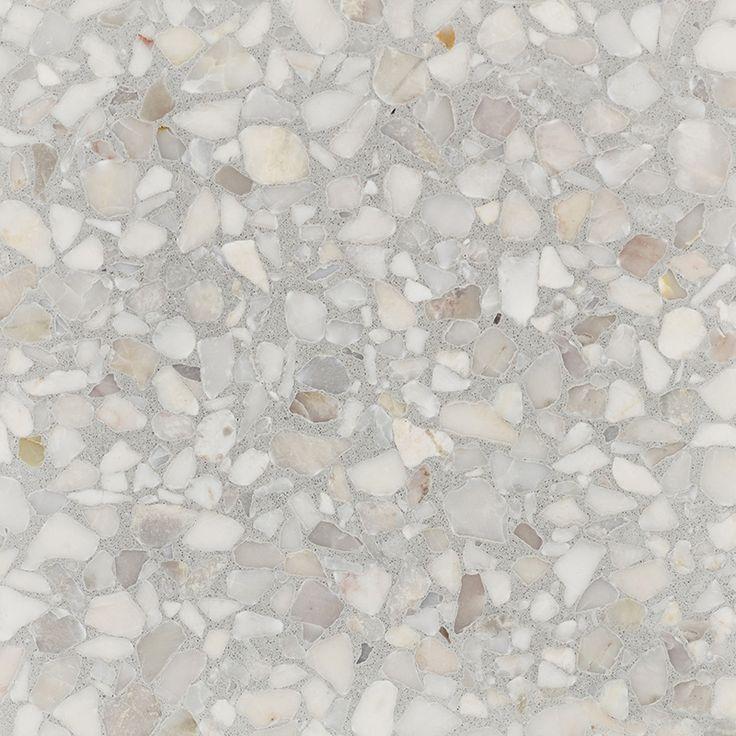 Dove Grey   Fibonacci Terrazzo Stone
