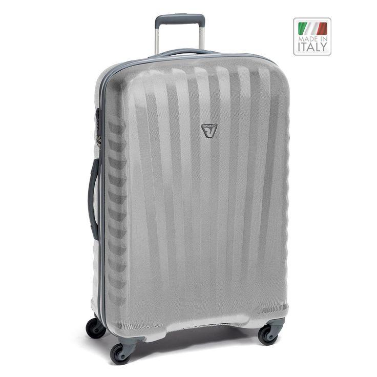 Großer #Koffer Roncato Uno Zip ZSL bei Koffermarkt: ✓leicht ✓Polycarbonat-Rahmenkoffer ✓4 Rollen ✓silber  ✓TSA-Schloss ⇒Jetzt kaufen