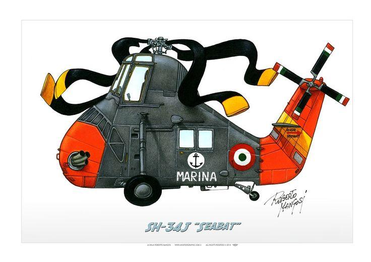 "ITALIAN NAVY . MARINA MILITARESH-34J ""Seabat"", 1978"