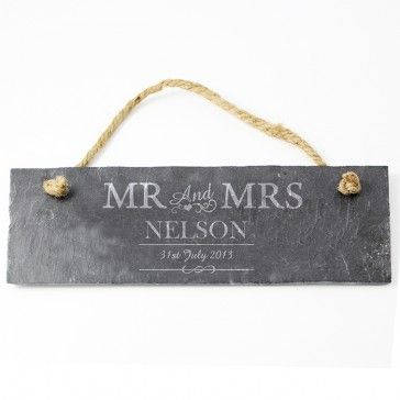 Mr and Mrs Slate Sign