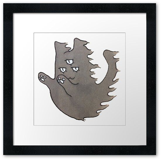 """""""Ghost Cat"""" Framed Prints by ThreeEyedKat 
