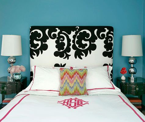 """""""This is my master bedroom, which I wanted to have a rock-n-roll vibe."""" - kate schintzius"""