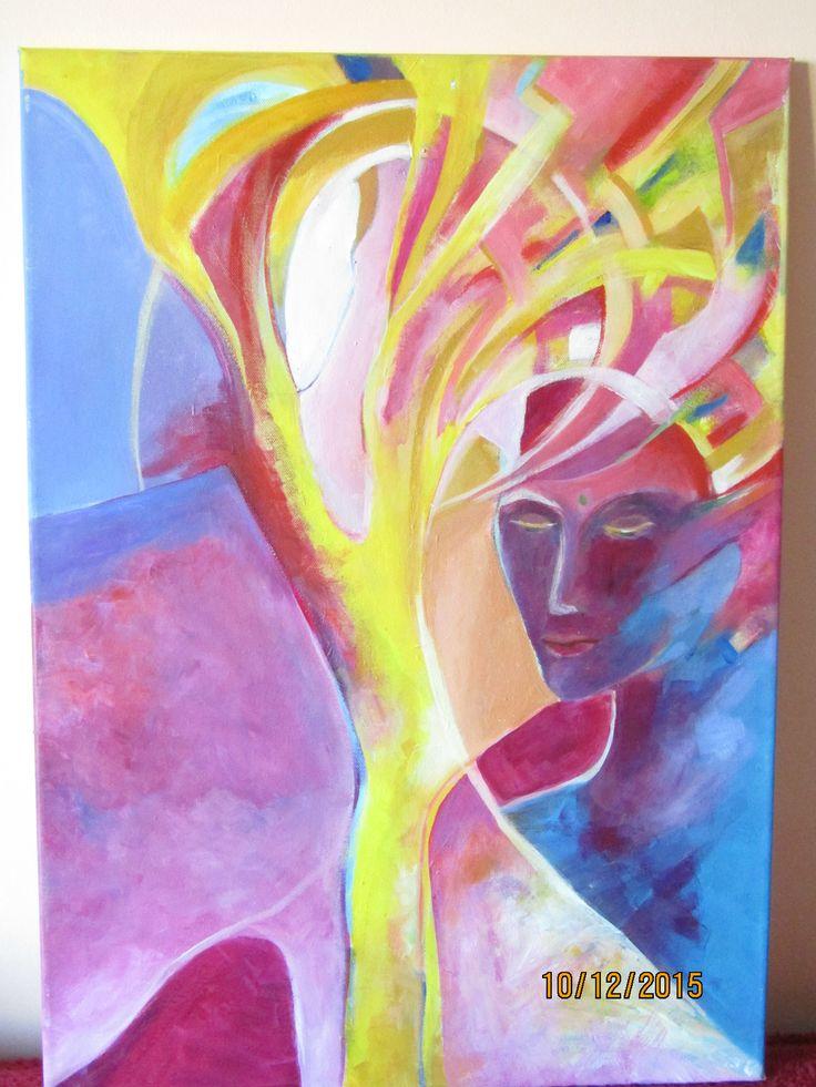 abstraktný obraz maľba na plátne